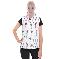 Drake Ugly Holiday Christmas Women s Button Up Puffer Vest