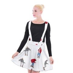 Drake Ugly Holiday Christmas Suspender Skater Skirt