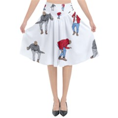 Drake Ugly Holiday Christmas Flared Midi Skirt