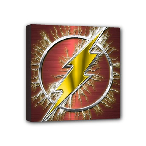 Flash Flashy Logo Mini Canvas 4  x 4