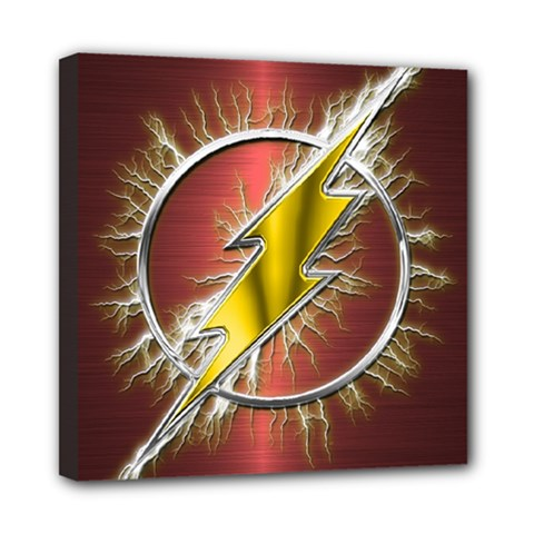 Flash Flashy Logo Mini Canvas 8  x 8