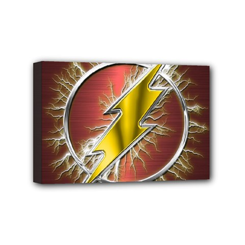 Flash Flashy Logo Mini Canvas 6  x 4