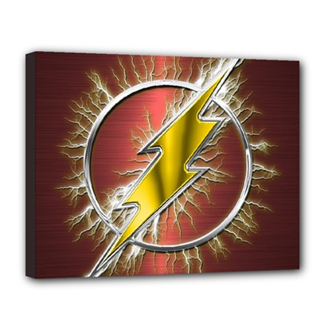 Flash Flashy Logo Canvas 14  x 11