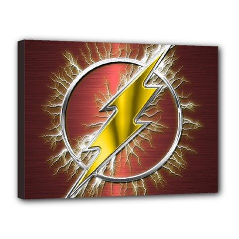 Flash Flashy Logo Canvas 16  x 12