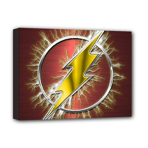 Flash Flashy Logo Deluxe Canvas 16  x 12