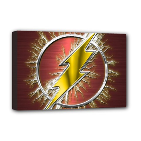 Flash Flashy Logo Deluxe Canvas 18  x 12