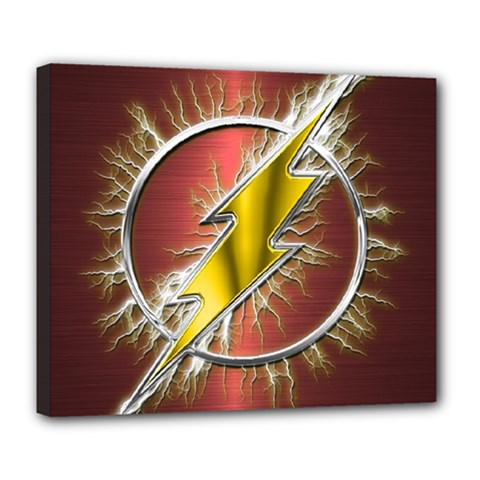 Flash Flashy Logo Deluxe Canvas 24  x 20