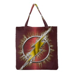 Flash Flashy Logo Grocery Tote Bag