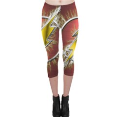 Flash Flashy Logo Capri Leggings