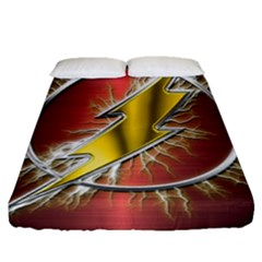 Flash Flashy Logo Fitted Sheet (Queen Size)