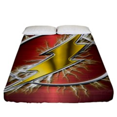 Flash Flashy Logo Fitted Sheet (King Size)