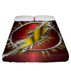 Flash Flashy Logo Fitted Sheet (California King Size)