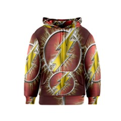 Flash Flashy Logo Kids  Zipper Hoodie