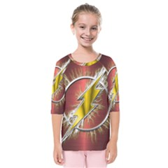 Flash Flashy Logo Kids  Quarter Sleeve Raglan Tee