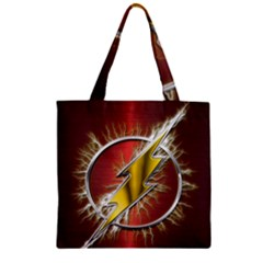 Flash Flashy Logo Zipper Grocery Tote Bag
