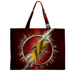 Flash Flashy Logo Zipper Mini Tote Bag