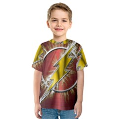 Flash Flashy Logo Kids  Sport Mesh Tee