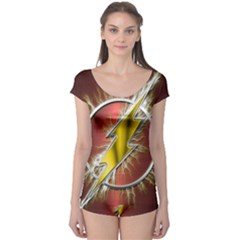 Flash Flashy Logo Boyleg Leotard
