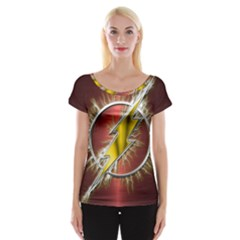 Flash Flashy Logo Women s Cap Sleeve Top