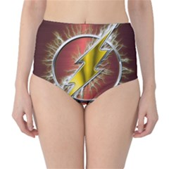 Flash Flashy Logo High-Waist Bikini Bottoms