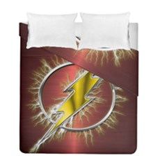 Flash Flashy Logo Duvet Cover Double Side (Full/ Double Size)