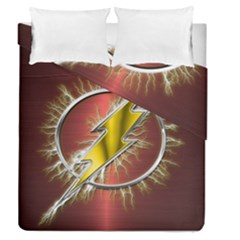 Flash Flashy Logo Duvet Cover Double Side (Queen Size)