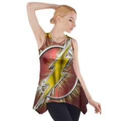 Flash Flashy Logo Side Drop Tank Tunic