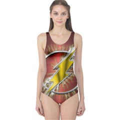 Flash Flashy Logo One Piece Swimsuit