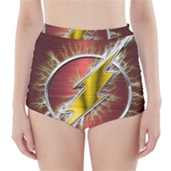 Flash Flashy Logo High-Waisted Bikini Bottoms
