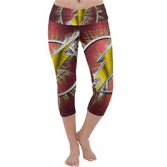 Flash Flashy Logo Capri Yoga Leggings