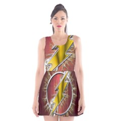Flash Flashy Logo Scoop Neck Skater Dress