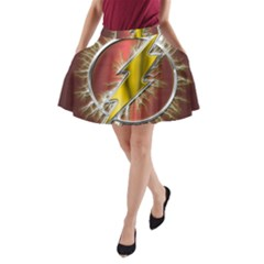 Flash Flashy Logo A-Line Pocket Skirt