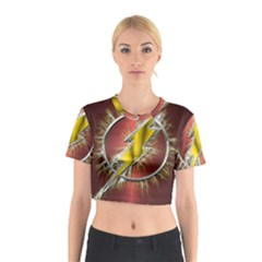 Flash Flashy Logo Cotton Crop Top