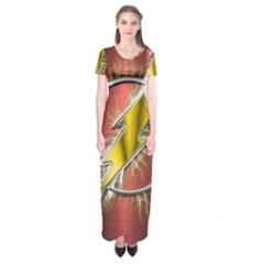 Flash Flashy Logo Short Sleeve Maxi Dress
