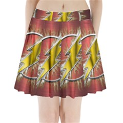 Flash Flashy Logo Pleated Mini Skirt