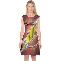 Flash Flashy Logo Capsleeve Midi Dress