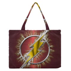 Flash Flashy Logo Medium Zipper Tote Bag