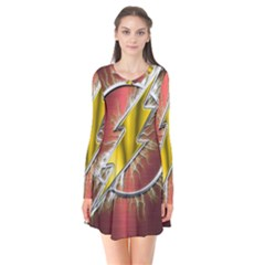 Flash Flashy Logo Flare Dress