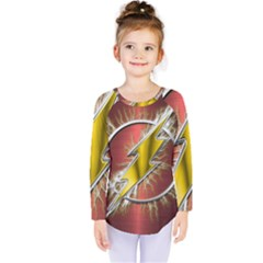 Flash Flashy Logo Kids  Long Sleeve Tee