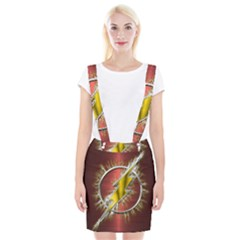 Flash Flashy Logo Braces Suspender Skirt