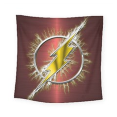 Flash Flashy Logo Square Tapestry (Small)