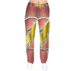 Flash Flashy Logo Drawstring Pants