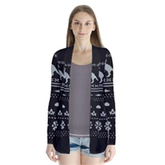 Holiday Party Attire Ugly Christmas Black Background Cardigans