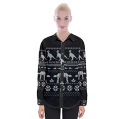 Holiday Party Attire Ugly Christmas Black Background Shirts