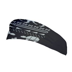 Holiday Party Attire Ugly Christmas Black Background Stretchable Headband