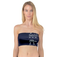 Holiday Party Attire Ugly Christmas Blue Background Bandeau Top
