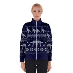 Holiday Party Attire Ugly Christmas Blue Background Winterwear
