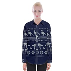 Holiday Party Attire Ugly Christmas Blue Background Shirts