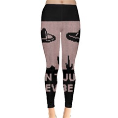 I Juan To Believe Ugly Holiday Christmas Black Background Leggings