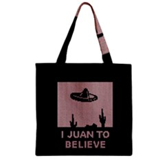 I Juan To Believe Ugly Holiday Christmas Black Background Zipper Grocery Tote Bag